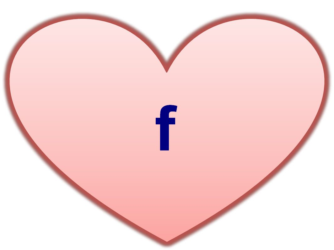 facebook heart symbol icon