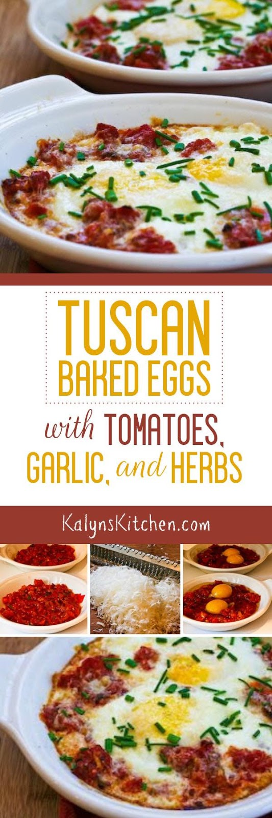 Tuscan Baked Eggs with Tomatoes, Red Onion, Garlic, Parmesan, and ...