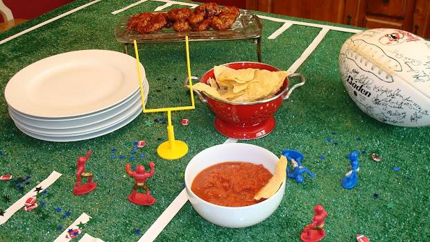 Football Field Table Decoration
