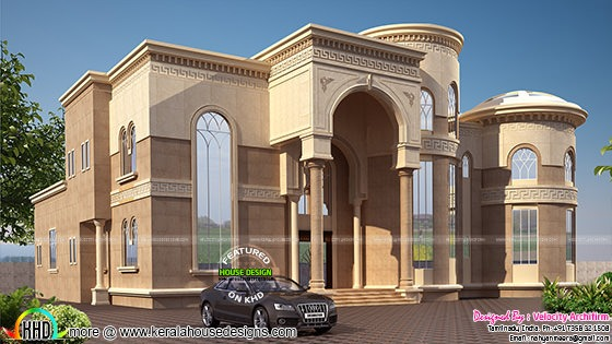 Arabian model house elevation