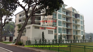 Aluminium Pole System at Naung Residence, Singapore