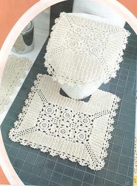 #698 Patrón de Juego de Baño a Crochet