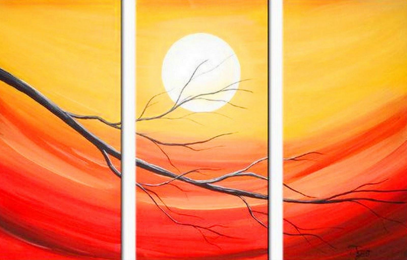 Pintura moderna y fotograf a art stica pinturas al leo for Imagenes de cuadros abstractos faciles de hacer