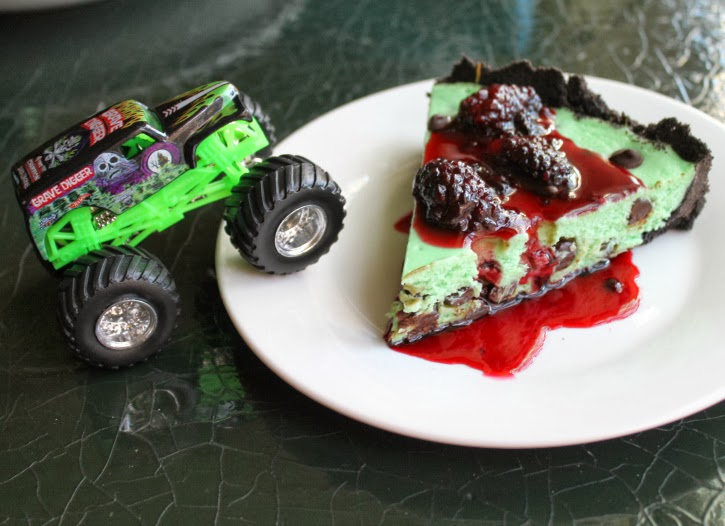 Grave Digger-Inspired Cheesecake