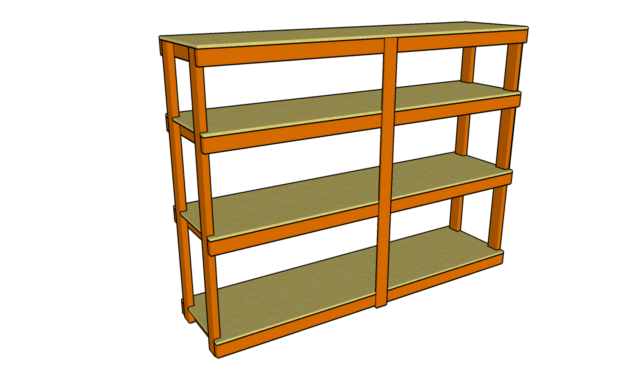 Building free standing garage shelves