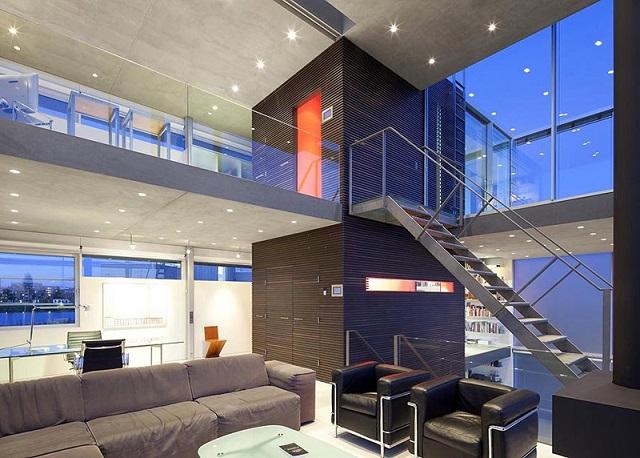 Casas minimalistas y modernas casa transparente en amsterdam - Apartamentos en amsterdam ...