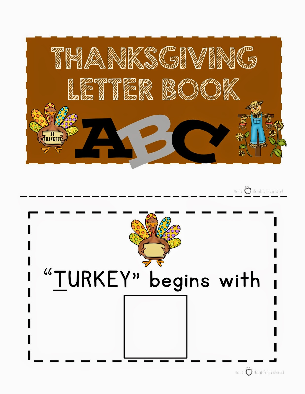 New Product Unit 3 Thanksgiving Themed Special Ed Early
