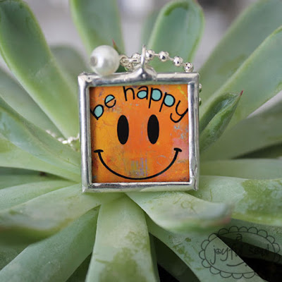 Be Happy Handsoldered Charm Pendant, A Joyful Soul