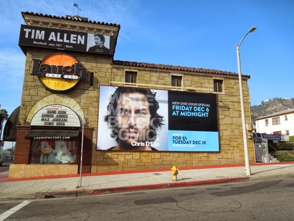 Chris D'Elia White male Black comic billboard