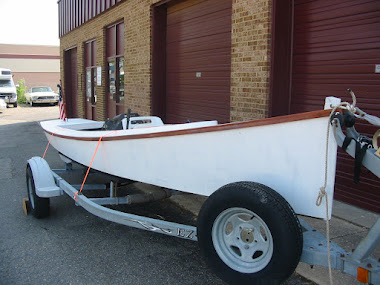 After - 20' Smith Island Racing Crab Skiff, complete restoration