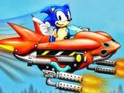 Sonic chinh phục bầu trời, chơi game sonic hay tại GameVui.biz