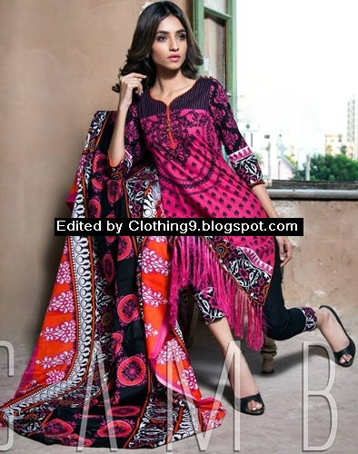 Printed Suits in Alzohaib Winter Collection