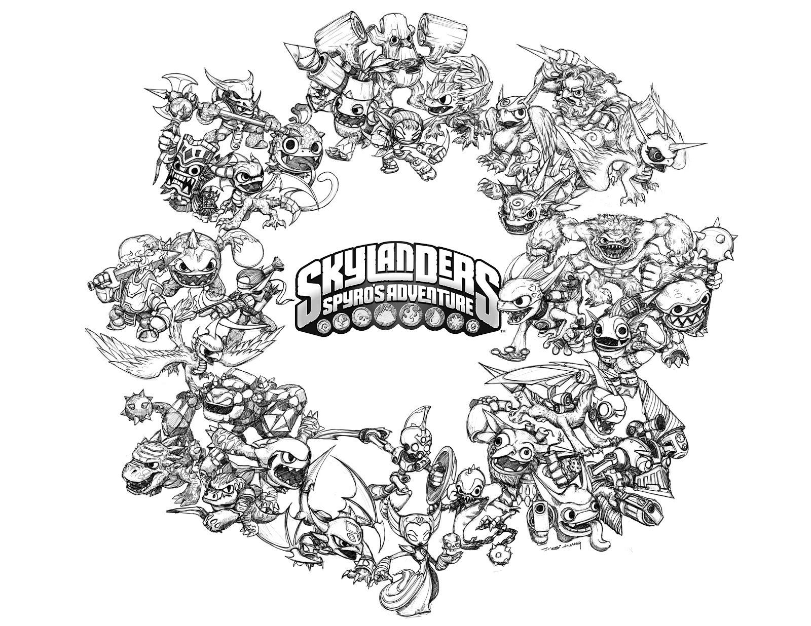 crabfu.com blog: Skylanders Speed Drawing & Coloring Pages