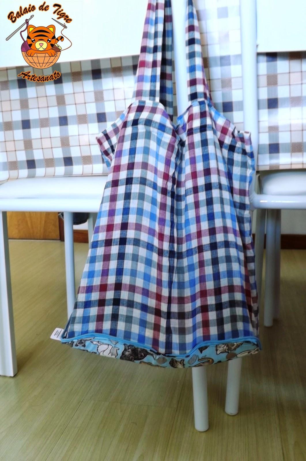 carteirola ecobag sacola reciclada balaio de tigre