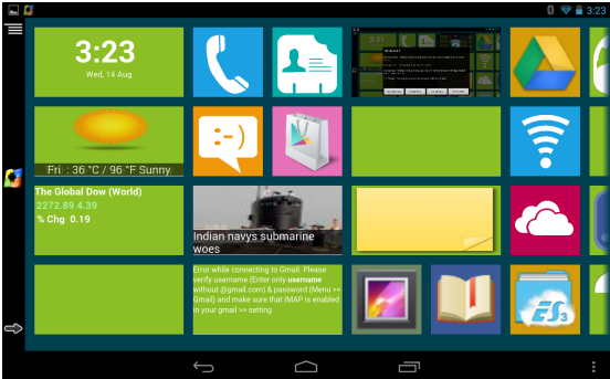 Windows 8 Metro style on Android