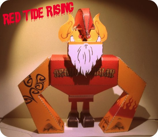 Red Tide Rising Paper Toy