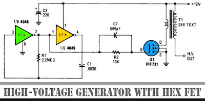 High-Voltage Generator with HEX FET