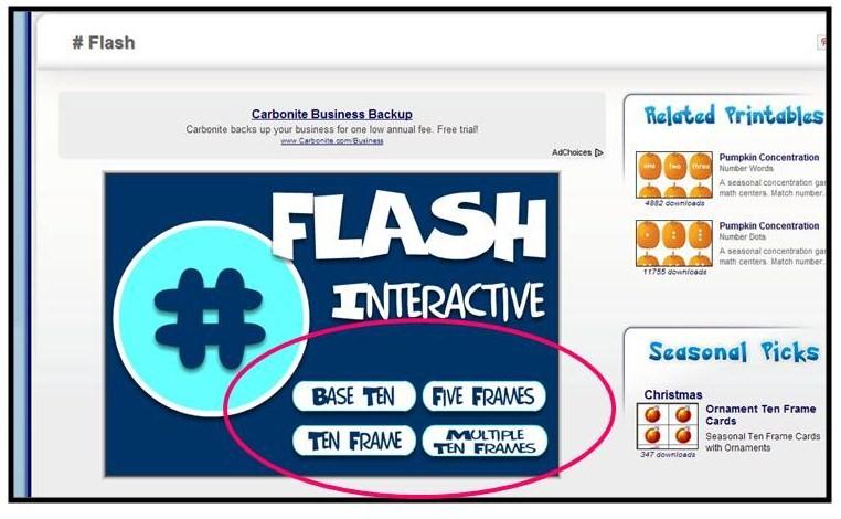 Teach it With Class: New Math Website {subitizing game}