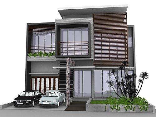 Aneka ide Desain Rumah Bambu Minimalis Modern 2015 yg indah