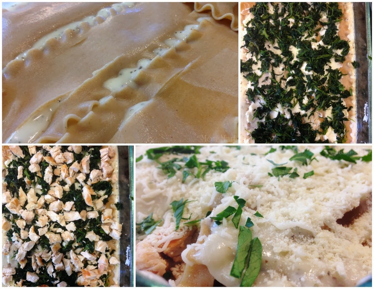 Spinach Cheese & Chicken Lasagna #Recipe #Tutorial #Yum #Foodie