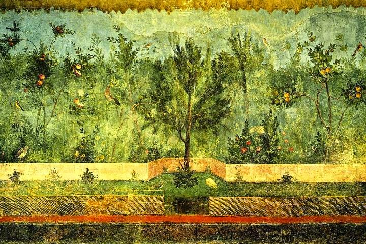 Ancient roman wall painting styles for Ancient mural villa