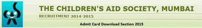 Children's AID Society Mumbai Admit Card Download