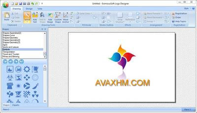 EximiousSoft Logo Designer software for logo maker