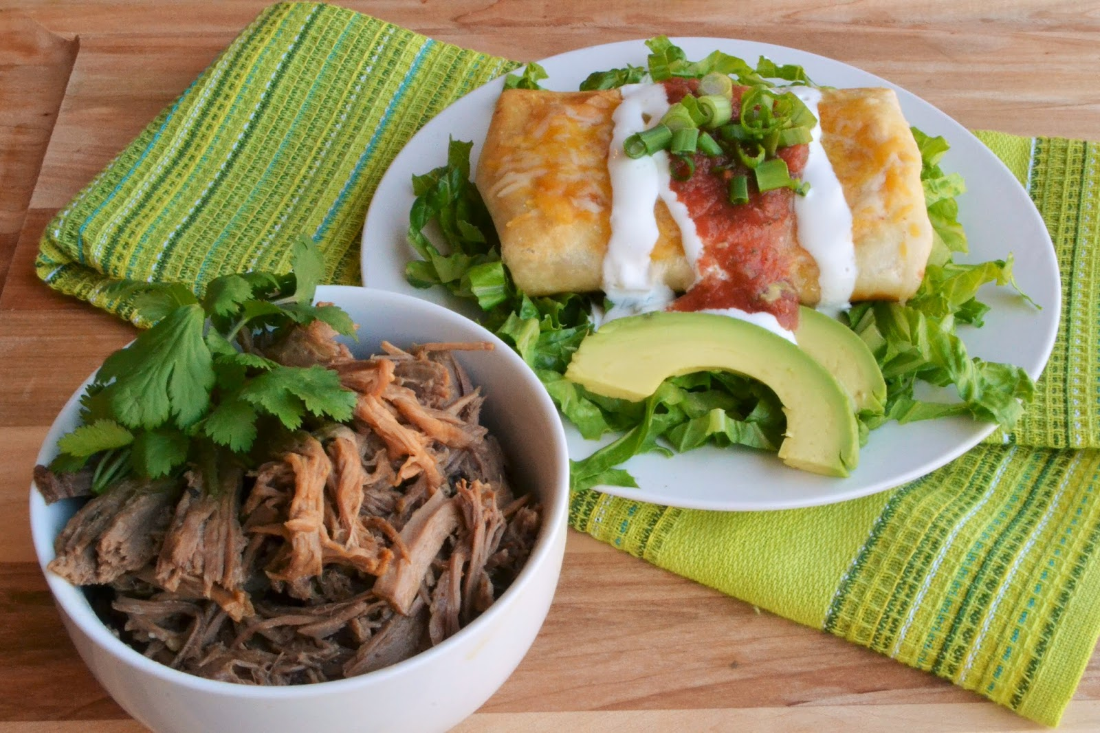 7kidsathome: Shredded Beef Chimichangas