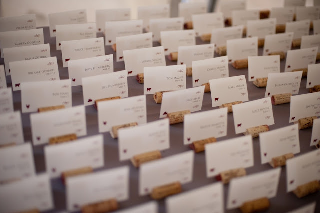 Wine Cork Escort Card Holders for Minnesota Wedding
