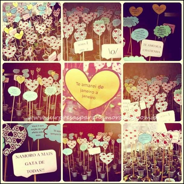 jardim de corações