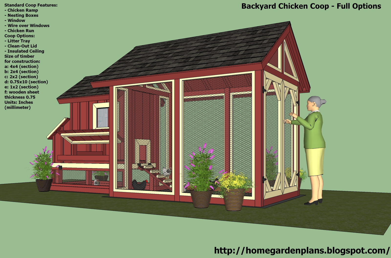 Home garden plans s101 chicken coop plans construction for Free coop plans