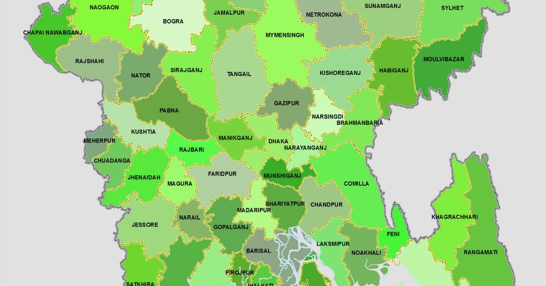 District Map of Bangladesh Bangladesh Maps District Zila Upazila