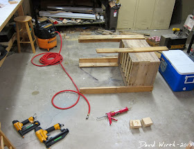 free wood cooler stand, wood pallets