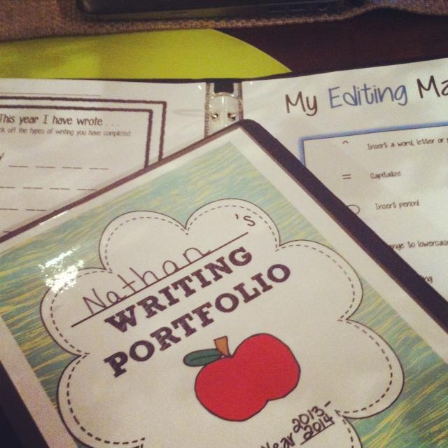 http://www.teacherspayteachers.com/Product/Writing-Portfolio-Monthly-Seasonal-825082