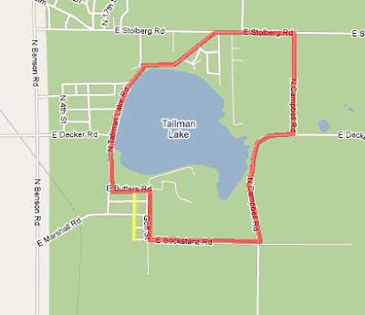 Tallman Lake Map