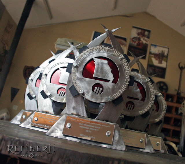 Custom steel fabricated trophy awards