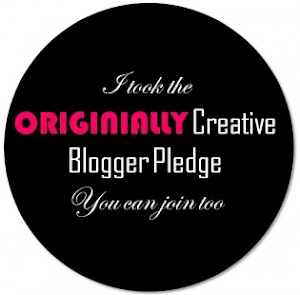 Originally Creative Blogger Pledge