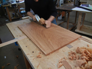 solid mahogany tea table top