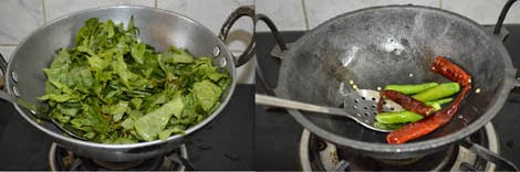 frying sorrel leaves