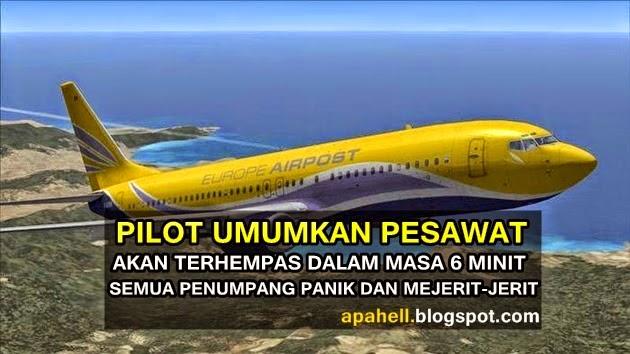 HOT Pilot Umum Pesawat Akan Terhempas