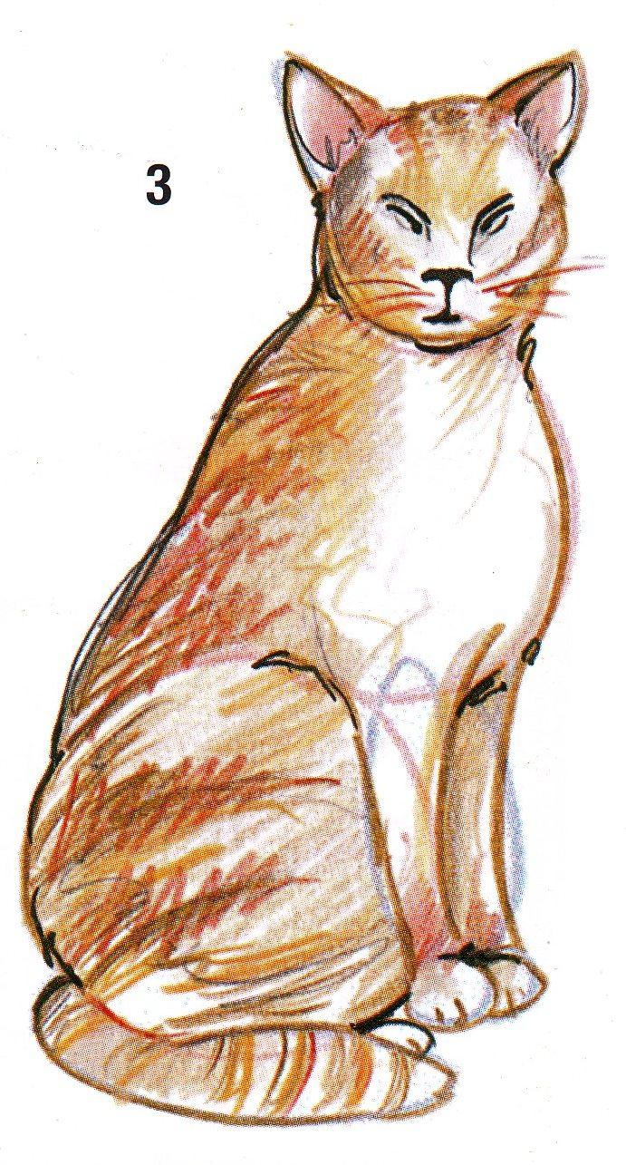 Menggambar Kucing Seni Rupa
