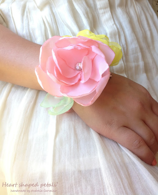 wrist corsage for brides and bridesmaids