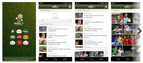 Snapshot aplikasi Official UEFA EURO 2012