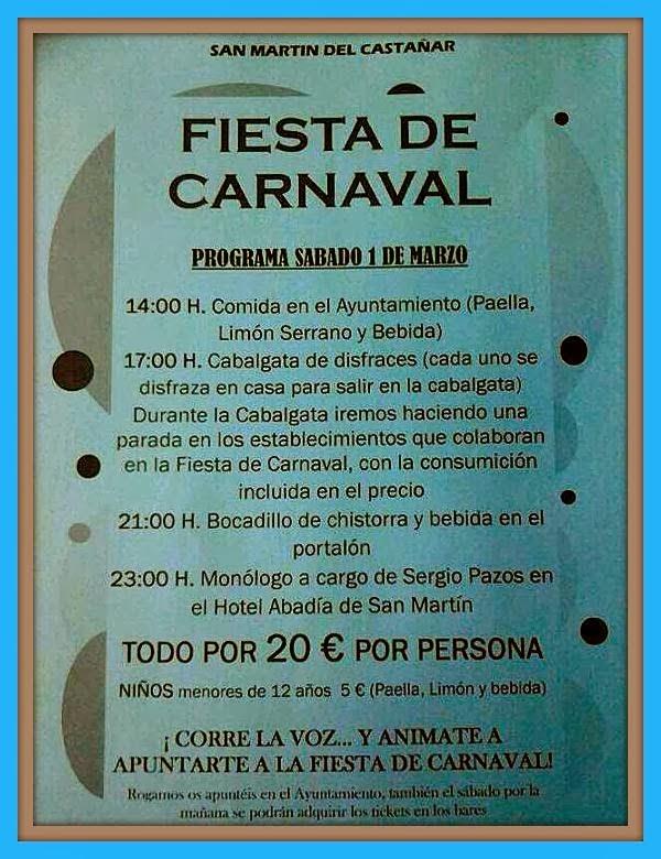 1/Marzo: Carnaval. San Martín del Castañar