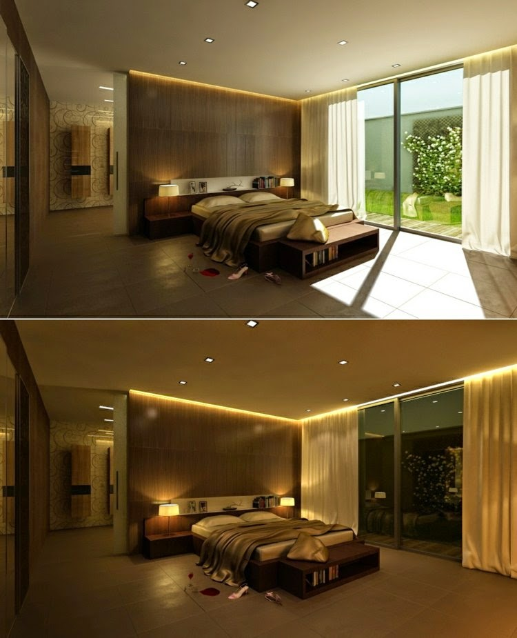 Latest modern led lights for false ceilings and walls for Bedroom ceiling lights