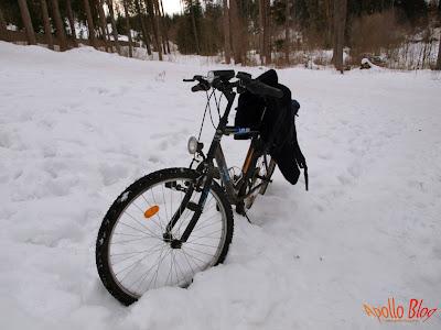 Bicicleta in zapada