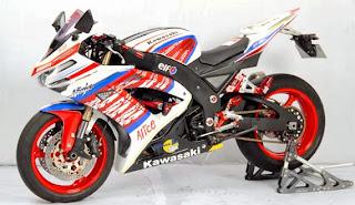 Modifikasi Motor Ninja 250 Sport Gaul Keren