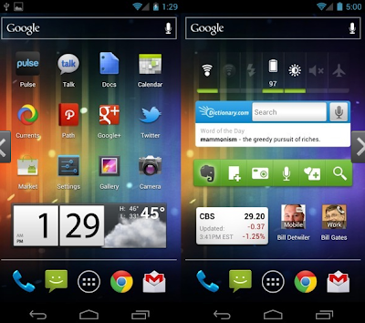 Widgets or Customize Home Screen