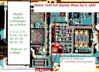 nokia 1650 white display solution