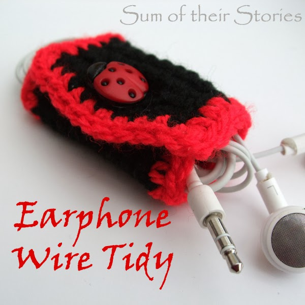 Crochet Earphone Wire tidy